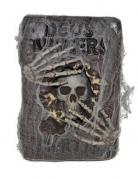 Hexenbuch Halloween-Deko schwarz grau gold
