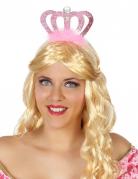 Rosa Prinzessinnen Diadem mit Krone