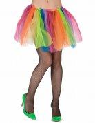 Bunter Tüllrock für Damen Regenbogenfarben