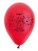 8 rote Ballons Latex PJ Masks™