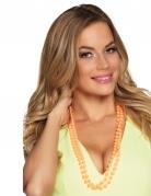 2 Perlen-Ketten für Erwachsene orange