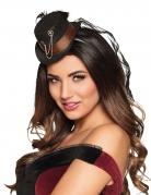 Steampunk Miniatur-Hut Kostümzubehör für Damen schwarz-braun