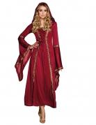 Mittelalterliche Prinzessin für Damen rot