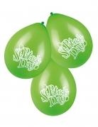 6 grüne Luftballons St. Patrick