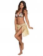 Hawaii-Bastrock Kostüm-Zubehör für Damen beige