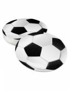 Fussball-Tischunterleger 6 Stück schwarz-weiss 10 cm
