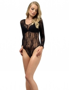 Sexy Spitzen-Body für Damen schwarz
