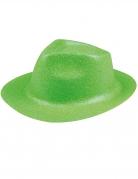 Neongrüner Glitzer-Hut für Erwachsene