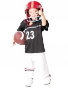 Amerikanischer Football-Spieler für Kinder schwarz-weiss