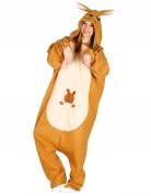 Känguru Kostüm Overall für Erwachsene