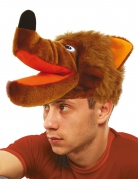 Wolf-Mütze für Erwachsene braun