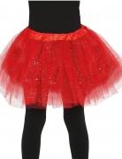 Roter Glitzer-Tüllrock für Kinder