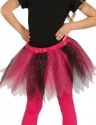 Tutu mit Glitzer für Mädchen schwarz-rosa