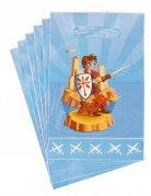 Set aus 6 Bonbontüten mit Rittern