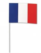 Deko Papierfahne Frankreich 14 x 21 cm