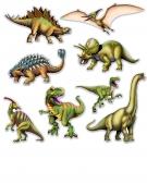 8 Ausschnitte Dinosaurier Pappkarton