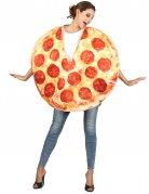 Pizza-Kostüm für Erwachsene rot-gelb-braun
