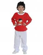 Fritzchen Mainzelmännchen™ Kostüm für Kinder weiß-rot