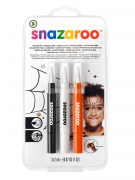 Schminkstifte Set dreifarbig Halloween Snazaroo™ 6 ml