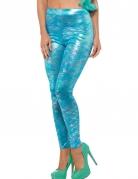 Meerjungfrau-Leggings Kostümzubehör für Damen türkis