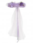Bezaubernde Prinzessinen-Kopfbedeckung Blumen-Haarband lila