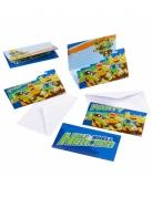 8 Einladungskarten Ninja Turtles
