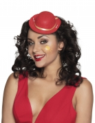 Miniatur Clownhut für Damen Kostümzubehör Erwachsene rot-gold