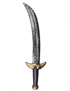 Orientalisches Piratenschwert für Erwachsene 53cm silber gold