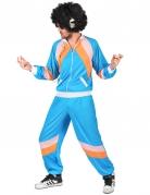 80er-Jahre Retro-Jogginganzug für Erwachsene blau-orange-rosa