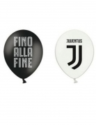 Juventus™-Ballons 12 Stück schwarz-weiss 30cm