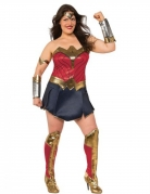 Wonder Woman™-Damenkostüm Deluxe Übergröße Lizenzkostüm rot-blau-gold