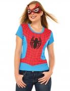Spidergirl™-Kostüm-Set für Damen Marvel™-Lizenz blau-rot-schwarz