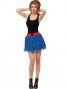 Spidergirl™-Petticoat Kostümzubehör Damen blau-rot-schwarz