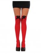 Spidergirl™-Overknees Strümpfe für Damen rot-schwarz
