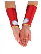Iron Man™-Manschetten Armstulpen für Damen rot-gold