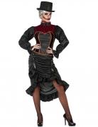Historisches Vampirkostüm für Damen schwarz-rot