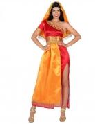 Bollywood Damenkostüm Länder-Kostüm rot-gold