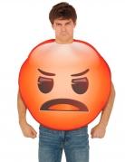 Wütendes Emoji™-Unisex Kostüm für Erwachsene rot