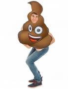 Kothaufen-Emoji™-Unisex Kostüm für Erwachsene braun