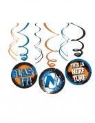 Nerf™-Girlande Raumdekoration 3 Stück blau-orange 24cm