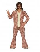 Funky-Herrenkostüm 70er-Jahre Disco-Verkleidung bunt