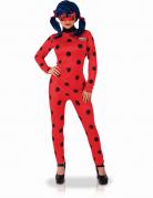 Ladybug™-Damenkostüm rot-schwarz