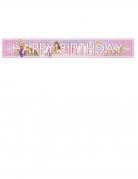 Disney™ Geburtstags-Banner Prinzessinnen bunt 90 x 13 cm