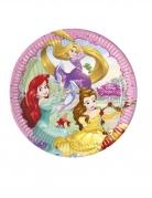 Disney™-Pappteller Märchen-Prinzessinnen 8 Stück bunt 23cm