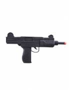 Spielzeug Machinenpistole schwarz 37 cm